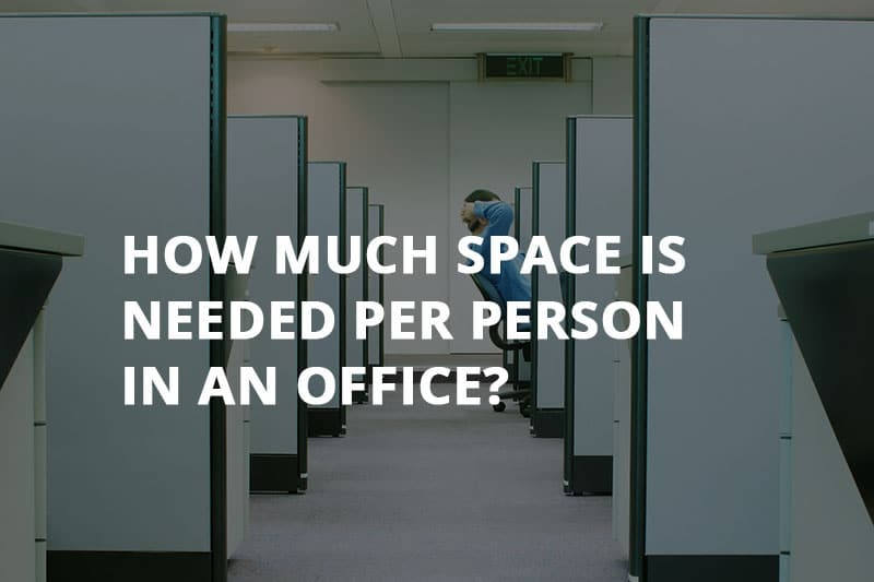 how much space is needed per person in an office